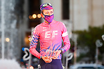 Hugh John Carthy (ENG) EF Pro Cycling finishes 3rd overall in general classification at the end of Stage 18 of the Vuelta Espana 2020, running 139.6km from Hipódromo de La Zarzuela to Madrid, Spain. 8th November 2020. <br /> Picture: Luis Angel Gomez/PhotoSportGomez | Cyclefile<br /> <br /> All photos usage must carry mandatory copyright credit (© Cyclefile | Luis Angel Gomez/PhotoSportGomez)