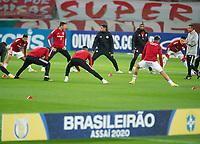 22nd August 2020; Estadio Beira Rio, Porto Alegre, Brazil; Brazilian Serie A, Internacional versus Atletico Mineiro; Players of Internacional during warm-up