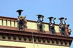 METAL MARIACHIS ON ROOF IN GUADALAJARA PLAZA DE MARIACHIS