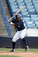 New York Yankees third baseman Miguel Andujar (28) during an Instructional League game against the Toronto Blue Jays on September 24, 2014 at George M. Steinbrenner Field in Tampa, Florida.  (Mike Janes/Four Seam Images)