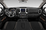 Stock photo of straight dashboard view of 2019 Chevrolet Silverado-1500 RST 4 Door Pick-up Dashboard