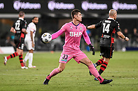 19th March 2021; Bankwest Stadium, Parramatta, New South Wales, Australia; A League Football, Western Sydney Wanderers versus Perth Glory; Liam Reddy of Perth Glory throws the ball out to his defense