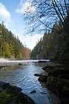 Elwha River Restoration, Elwha Dam removal, Elwha River below the dam, March 16, 2012, Largest dam removal project in US history, Olympic National Park, Olympic Peninsula, Washington State, Pacific Northwest, USA, North America,