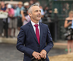 July 17, 2021: Connections of Althiqa #8, celebrate after winning the Diana Stakes (Grade 1) for fillies and mares four years and upward at Saratoga Race Course in Saratoga Springs, New York on July 17, 2021. Rob Simmons/Eclipse Sportswire/CSM