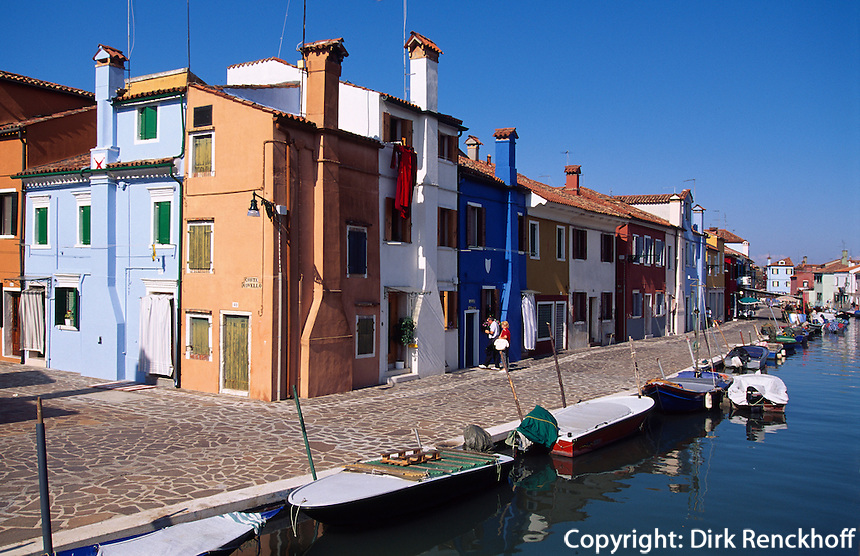 Italien, Venetien-Friaul, Burano bei Venedig, Unesco-Weltkulturerbe
