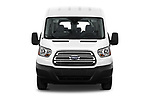Car photography straight front view of a 2019 Ford Transit Wagon 350 XLT Wagon Med Roof Sliding Pass. 148 5 Door Passenger Van