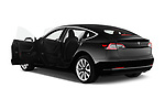 Car images close up view of a 2019 Tesla Model-3 Performance 4 Door Sedan doors