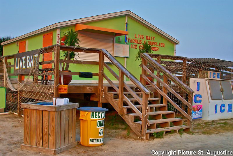 Live Bait, Tackle and Supplies - A small bait shop at the May Street boat Ramp in St. Augustine, Florida