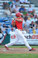 Williamsport Crosscutters outfielder Dylan Cozens #18 during a game against the Auburn Doubledays on July 8, 2013 at Bowman Field in Williamsport, Pennsylvania.  Auburn defeated Williamsport 5-1.  (Mike Janes/Four Seam Images)