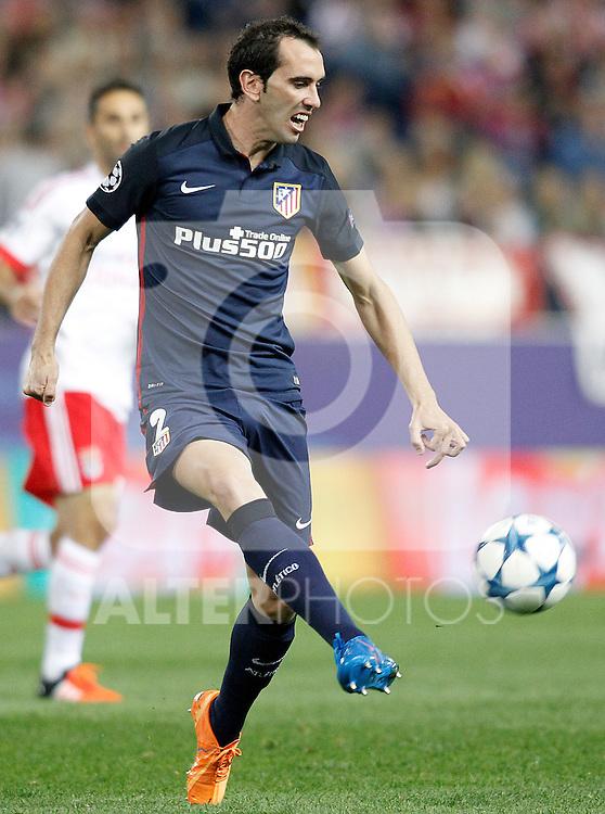 Atletico de Madrid's Diego Godin during Champions League 2015/2016 match. September 30,2015. (ALTERPHOTOS/Acero)
