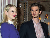 June 25, 2012 Emma Stone and Andrew Garfield, of The Amazing Spider-man film, attend the lighting ceremony  to support Stand Up to Cancer at the Empire State Building in New York City. © RW/MediaPunch Inc. **NORTEPHOTO.COM*<br /> **SOLO*VENTA*EN*MEXICO**<br /> **CREDITO*OBLIGATORIO** <br /> **No*Venta*A*Terceros**