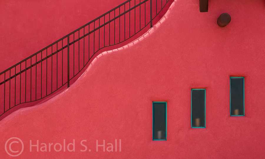 A unique design is created by a simple stairwell in Alamogordo, New Mexico.