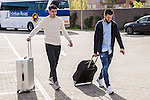Spainsh Alvaro Morata and Nacho Fernandez arriving at the concentration of the spanish national football team in the city of football of Las Rozas in Madrid, Spain. November 08, 2016. (ALTERPHOTOS/Rodrigo Jimenez)