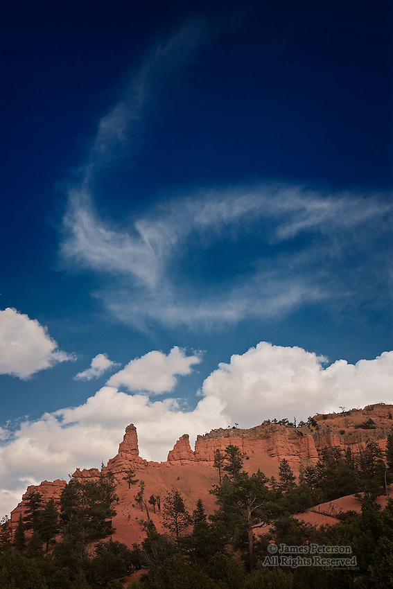 Clouds above Casto Canyon, Utah