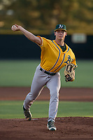AZL Athletics starting pitcher Daulton Jefferies (6) delivers a pitch in a rehab start during an Arizona League game against the AZL Giants Black at the San Francisco Giants Training Complex on June 19, 2018 in Scottsdale, Arizona. AZL Athletics defeated AZL Giants Black 8-3. (Zachary Lucy/Four Seam Images)