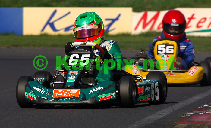 PF International Kart Circuit Brandon Lincolnshire England, a young George Russell racing as a novice in his early karting career.