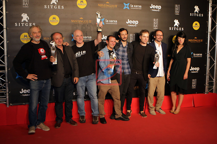 52 FESTIVAL INTERNACIONAL DE CINEMA FANTASTIC DE CATALUNYA. SITGES 2019.<br /> Red Carpet Awards Ceremony.<br /> El Equipo de la pelicula El Hoyo.