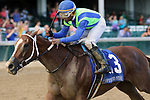 LOUISVILLE, KY - SEP 15: Vertical Oak (#3, jockey Ricardo Santana Jr.) wins the 10th running of the Open Mind Stakes at Churchill Downs, Louisville, Kentucky. Owner J. Kirk and Judy Robison, trainer Steven M. Asmussen, by Giant Oak x Vertical Vision (Pollard's Vision) (Photo by Mary M. Meek/Eclipse Sportswire/Getty Images)