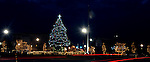 The Troy downtown decorated for Christmas