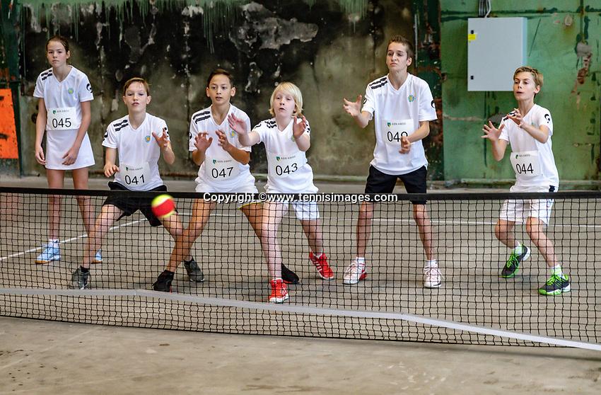 Rotterdam, Netherlands, December 09, 2017, RDM werf, Onderzeebootloods, Ballkids selection day for ABNAMROWTT 2019,  <br /> Photo: Tennisimages/Henk Koster