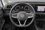 Car pictures of steering wheel view of a 2021 Volkswagen Caddy-Cargo Maxi-Business 4 Door Cargo Van Steering Wheel