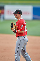Brett Nicholas (15) of the El Paso Chihuahuas during the game against the Salt Lake Bees at Smith's Ballpark on July 8, 2018 in Salt Lake City, Utah. El Paso defeated Salt Lake 15-6. (Stephen Smith/Four Seam Images)