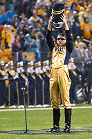 Pitt drum major Mike Ewan performs before the game. The Penn State Nittany Lions defeated the Pitt Panthers 51-6 on September 08, 2018 at Heinz Field in Pittsburgh, Pennsylvania.