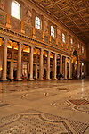 Interior of the 5th century Basilica Papale di Santa Maria Maggiore in Rome, Italy