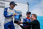 #10: Alex Palou, Chip Ganassi Racing Honda celebrates winning the Grand Prix of Portland