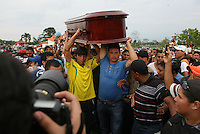 """IVenezuelan boxer Edwin IncaValero, champion of the World-wide Council of Box (CMB), is mourning by relatives and friends in Merida, Venezuela, April 21st 2010.Valero, famed for an impressive record of 27 straight knockouts and a huge tattoo of Chavez on his chest, hanged himself in his jail cell last week. The boxer, who was nicknamed """"El Inca"""" in reference to an Indian warrior, committed suicide a day after he was arrested for murdering his 24-year-old wife."""