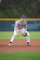 Connor Norton (64), from Stratham, New Hampshire, while playing for the Indians during the Baseball Factory Pirate City Christmas Camp & Tournament on December 30, 2017 at Pirate City in Bradenton, Florida.  (Mike Janes/Four Seam Images)