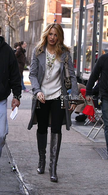WWW.ACEPIXS.COM . . . . .  ....March 26 2008, New York City....Actress Blake Lively was in the Meat Packing District on the set of 'Gossip Girl'.....Please byline: AJ Sokalner - ACEPIXS.COM..... *** ***..Ace Pictures, Inc:  ..te: (646) 769 0430..e-mail: info@acepixs.com..web: http://www.acepixs.com