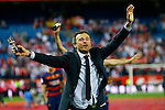 FC Barcelona's coach Luis Enrique Martinez celebrates the victory in the Spanish Kings Cup Final match. May 22,2016. (ALTERPHOTOS/Acero)