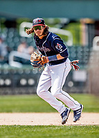 6 June 2021: New Hampshire Fisher Cats infielder Austin Martin in action against the Binghamton Rumble Ponies at Northeast Delta Dental Stadium in Manchester, NH. The Rumble Ponies defeated the Fisher Cats 9-6 to close out their 6-game series. Mandatory Credit: Ed Wolfstein Photo *** RAW (NEF) Image File Available ***