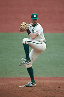 Charlotte 49ers starting pitcher Austin Marozas (26) in action against the Tennessee Volunteers at Hayes Stadium on March 9, 2021 in Charlotte, North Carolina. The 49ers defeated the Volunteers 9-0. (Brian Westerholt/Four Seam Images)