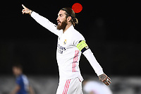 16th March 2021; Madrid, Spain; during the Champions League match, round of 16, between Real Madrid and Atalanta;  Sergio Ram