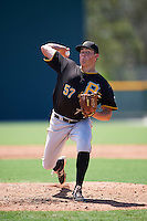 Pittsburgh Pirates pitcher John Pomeroy (57) during an Instructional League Intrasquad Black & Gold game on September 21, 2016 at Pirate City in Bradenton, Florida.  (Mike Janes/Four Seam Images)