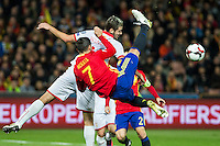 Match of European. Spain and Macedonia