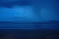 Tamarindo beach Early morning rain, Costa Rica, Pacific Ocean