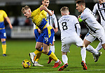 Dunfermline v St Johnstone…15.12.20   East End Park      BetFred Cup<br />Ali McCann gets the better of Kyle Turner and Euan Murray<br />Picture by Graeme Hart.<br />Copyright Perthshire Picture Agency<br />Tel: 01738 623350  Mobile: 07990 594431