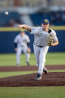 Michigan Wolverines pitcher Blake Beers (29) delivers a pitch to the plate during the NCAA baseball game against the Eastern Michigan Eagles on May 8, 2019 at Ray Fisher Stadium in Ann Arbor, Michigan. Michigan defeated Eastern Michigan 10-1. (Andrew Woolley/Four Seam Images)