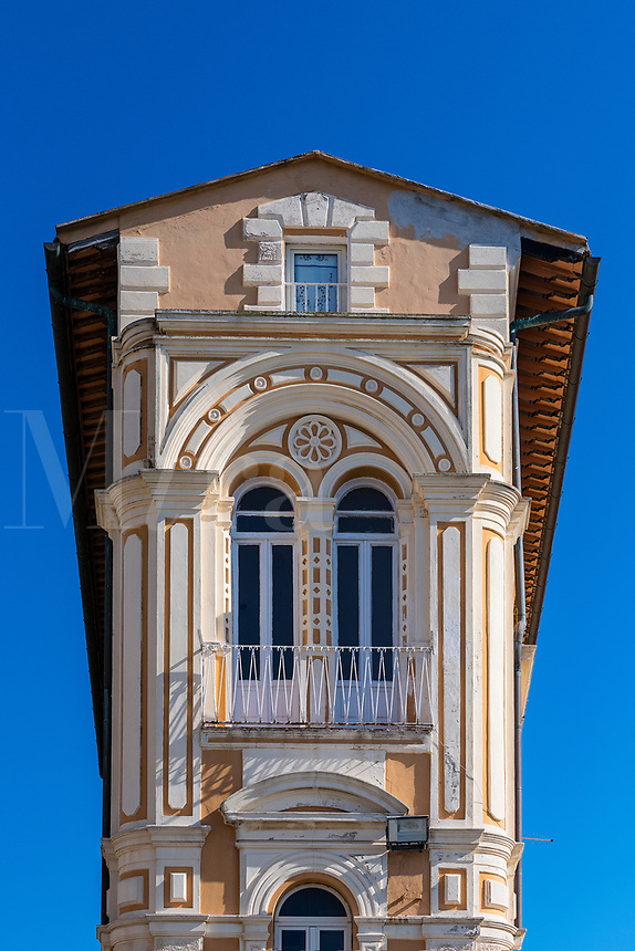 Unique architecture in Portoferraio, Elba, Tuscany, Italy, Europe.