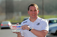 Pictured: Swansea City Football Club manager Brendan Rodgers has been awarded the Manager of the Month Award by the npower Football League. Friday 04 February 2011
