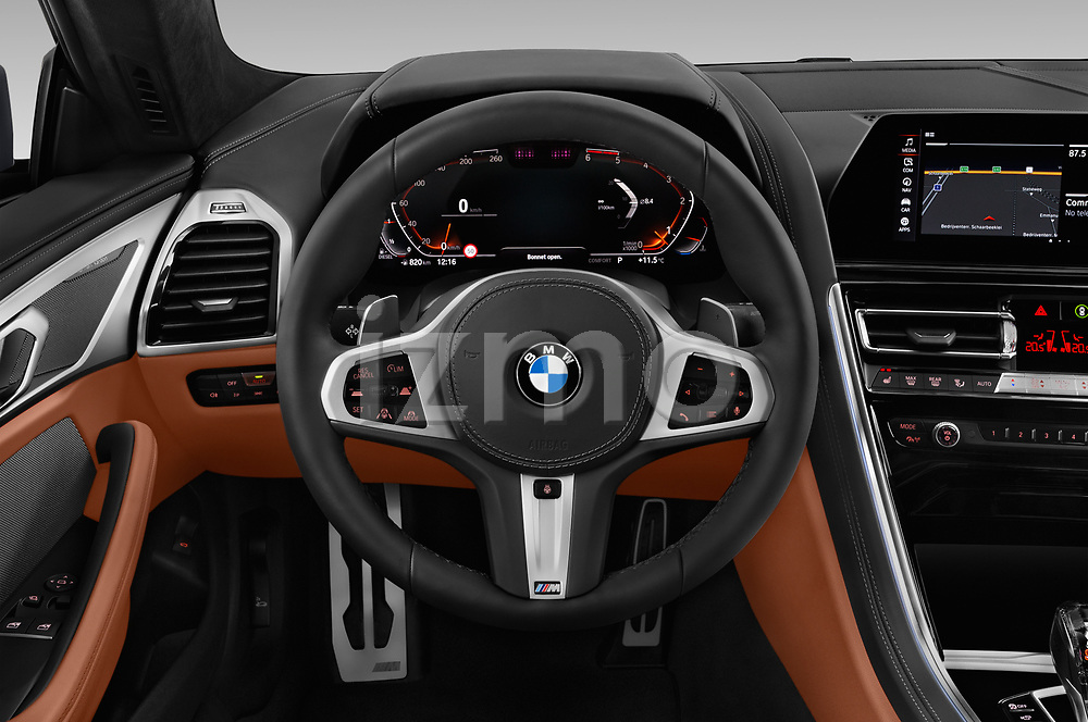 Car pictures of steering wheel view of a 2019 BMW 8 Series M Sport 2 Door Coupe