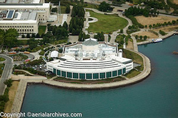 aerial photograph Shedd Aquarium, Chicago, Illinois
