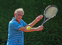 Netherlands, Amstelveen, August 23, 2015, Tennis,  National Veteran Championships, NVK, TV de Kegel,  Men's single final 55+ years: Ben van de Steen<br /> Photo: Tennisimages/Henk Koster