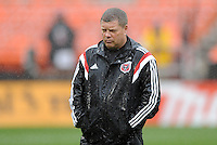 Washington, D.C.- March 29, 2014. Chad Ashton D.C. United Assistant Coach. The Chicago Fire tied D.C. United 2-2 during a Major League Soccer Match for the 2014 season at RFK Stadium.