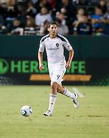 CARSON, CA – SEPTEMBER 18:  LA Galaxy defender Omar Gonzalez (4) during a soccer match at Home Depot Center, September 18, 2010 in Carson California. Final score LA Galaxy 2, DC United 1.