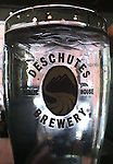 Beer glass, Deschutes Brewery, Oregon, Portland