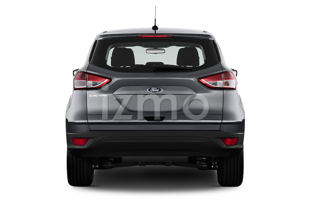 Straight rear view of a 2013 Ford Escape S